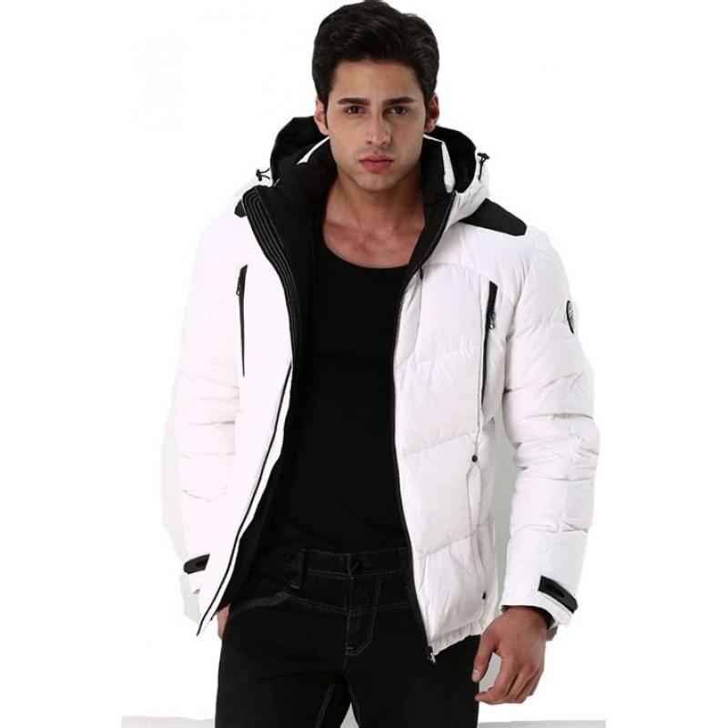 Мужская куртка-пуховик зимняя ENRICO BELENO 4526 OVERCOAT WHITE  - фото 1